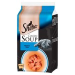 Sheba Classic Soup Adult & Senior Cat Wet Food with Tuna Fillets, 4 x 40g