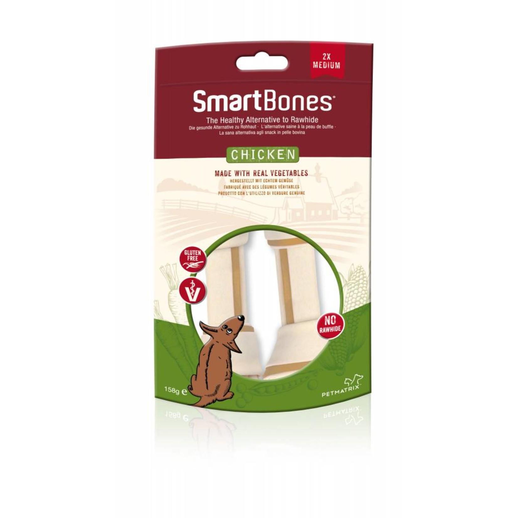 SmartBones Rawhide Alternative Chicken Bones Dog Treats, Medium, 2 pack