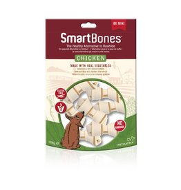 SmartBones Rawhide Alternative Chicken Bones Dog Treats, Mini, 8 pack