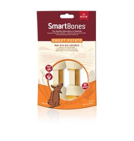 SmartBones Sweet Potato Bones Dog Treats, Medium, 2 pack