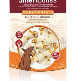 SmartBones Sweet Potato Mini Bones Dog Treat, 8 pack