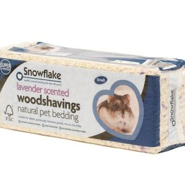 Snowflake Lavender Scented Woodshavings Small