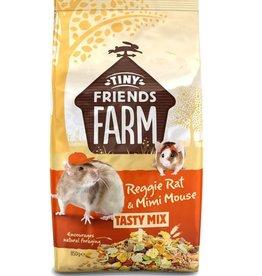 Supreme Tiny Friends Farm Reggie Rat & Mimi Mouse Tasty Mix Food 850g