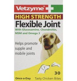 Vetzyme High Strength Flexible Joint Tasty Chicken Bites, 30 Tablets