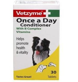 Vetzyme Once a Day Conditioner Dog, 30 Tablets