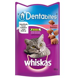 Whiskas Dentabites Cat Treats with Salmon 50g