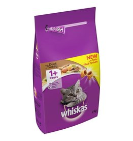 Whiskas Adult Cat Dry Food, Duck & Turkey, 2kg