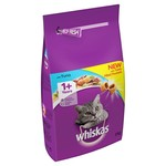 Whiskas Adult Cat Dry Food, Tuna & Veg, 2kg