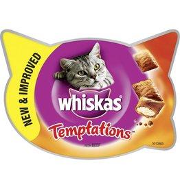 Whiskas Temptations Cat Treats Beef 60g