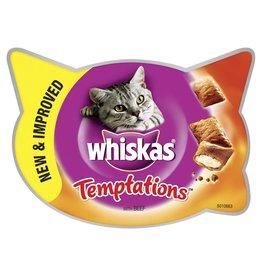 Whiskas Temptations Cat Treats, Beef, 60g