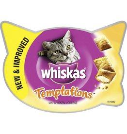 Whiskas Temptations Cat Treats, Chicken & Cheese, 60g