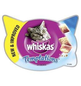Whiskas Temptations Cat Treats, Salmon, 60g