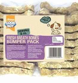 Good Boy Fresh Breath Flavour Bonies Dog Treats 10cm 4inch, 450g