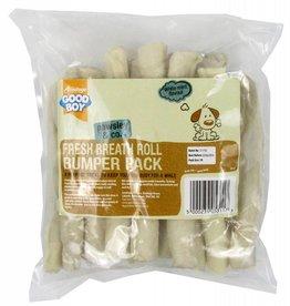 Good Boy Fresh Breath Flavour Rolls Rawhide Dog Treats 155mm 6inch, 340g