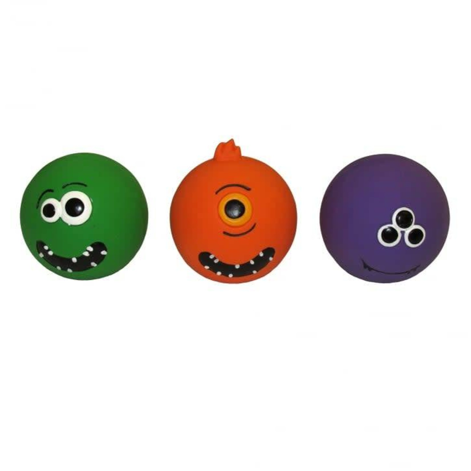 Armitage Good Boy Monster Face Squeaky Ball Dog Toy