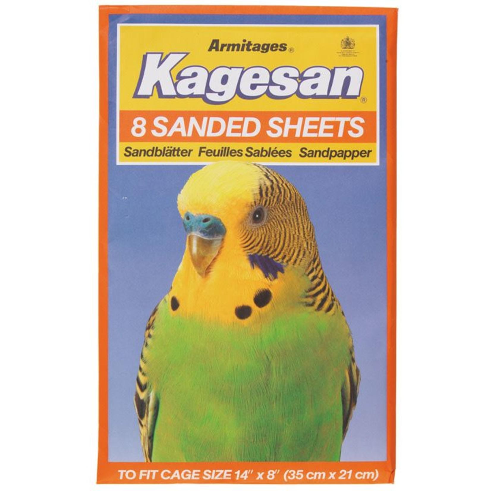 Armitage Kagesan No.3 Orange Bird Cage Sanded Sheets 35cm x 21cm,  8 pack