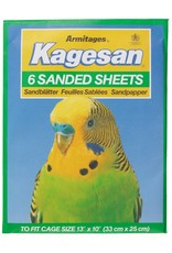 Armitage Kagesan No.4 Green Bird Cage Sanded Sheets 33cm x 25cm, 6 pack