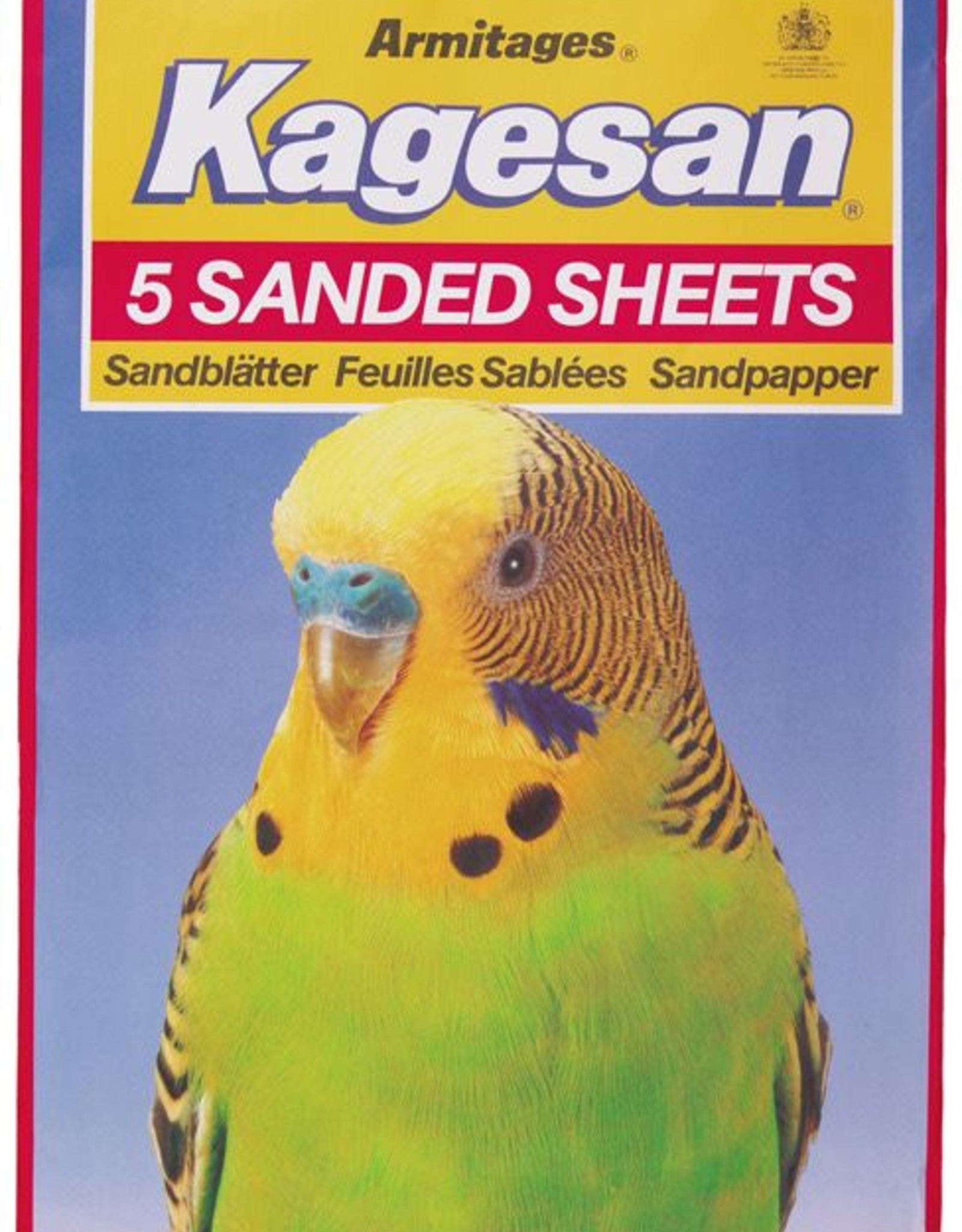 Armitage Kagesan No.6 Red Bird Cage Sanded Sheets 43cm x 28cm, 5 pack