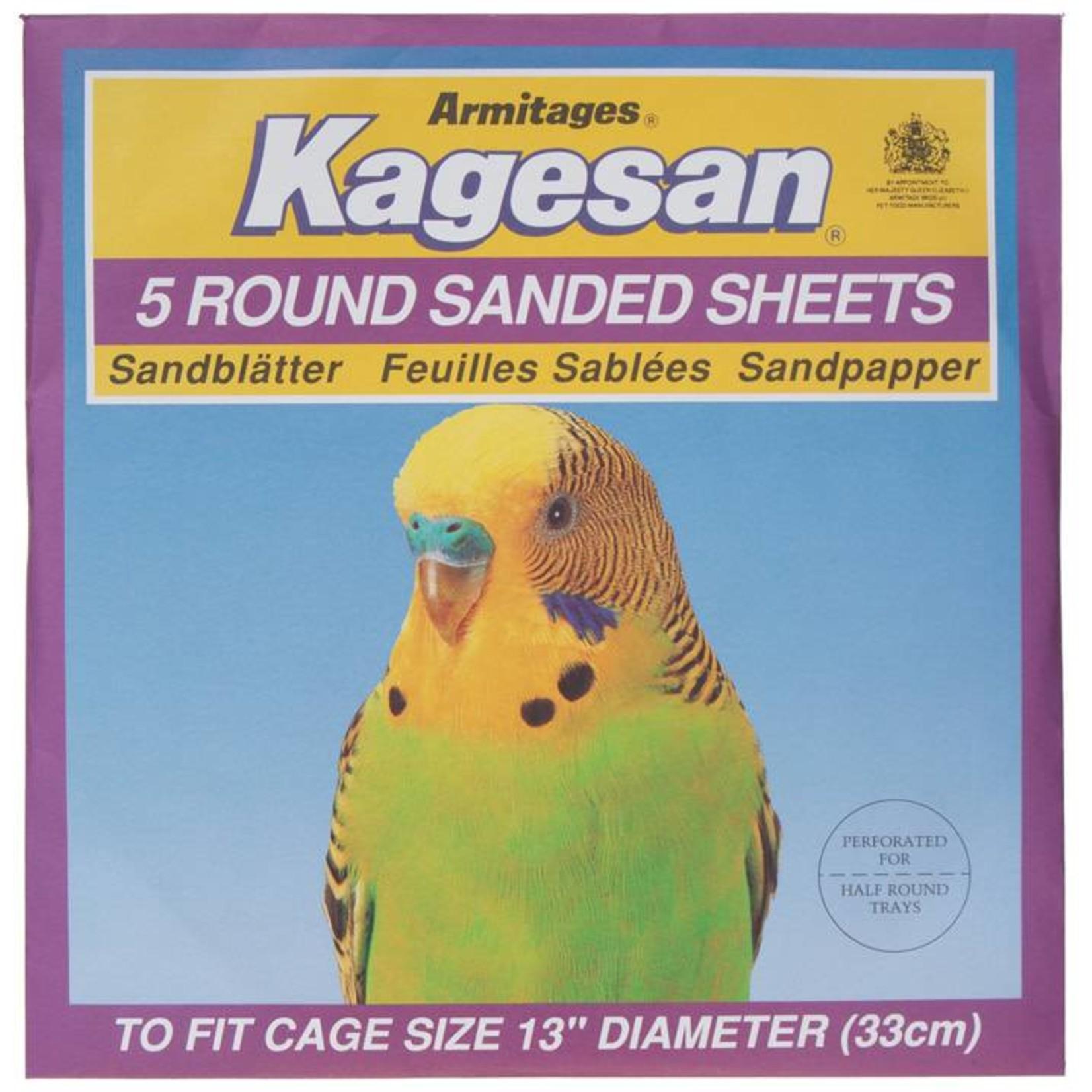 Armitage Kagesan Purple 33cm Diameter Round Bird Cage  Sanded Sheets, 5 pack