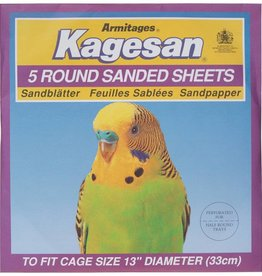 Armitage Kagesan Purple 33cm Diameter Round Bird Cage  Sanded Sheets, 5 pack