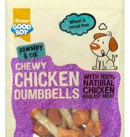 Good Boy Pawsley & Co Chewy Dog Treats Chicken Dumbells Dog Treats 350g