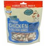 Good Boy Pawsley & Co Crunchy Dog Treats Chicken Calcium Bones Dog Treats 350g