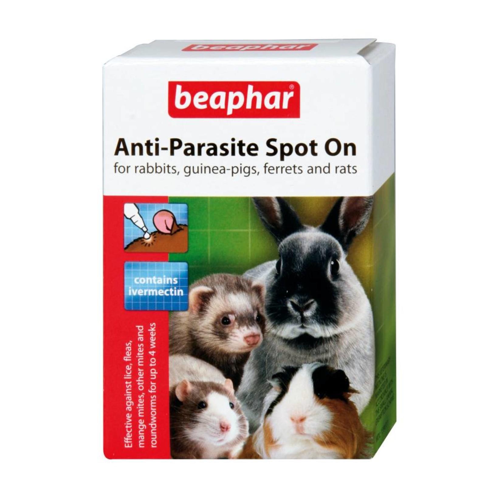 Beaphar Anti Parasite Spot-On for Rabbits & Guinea Pigs, 4 pack