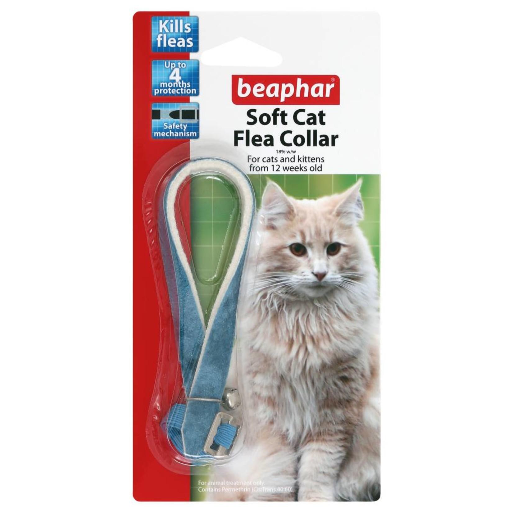 Beaphar Soft Velvet Cat Flea Collar in Assorted Colours, 30cm