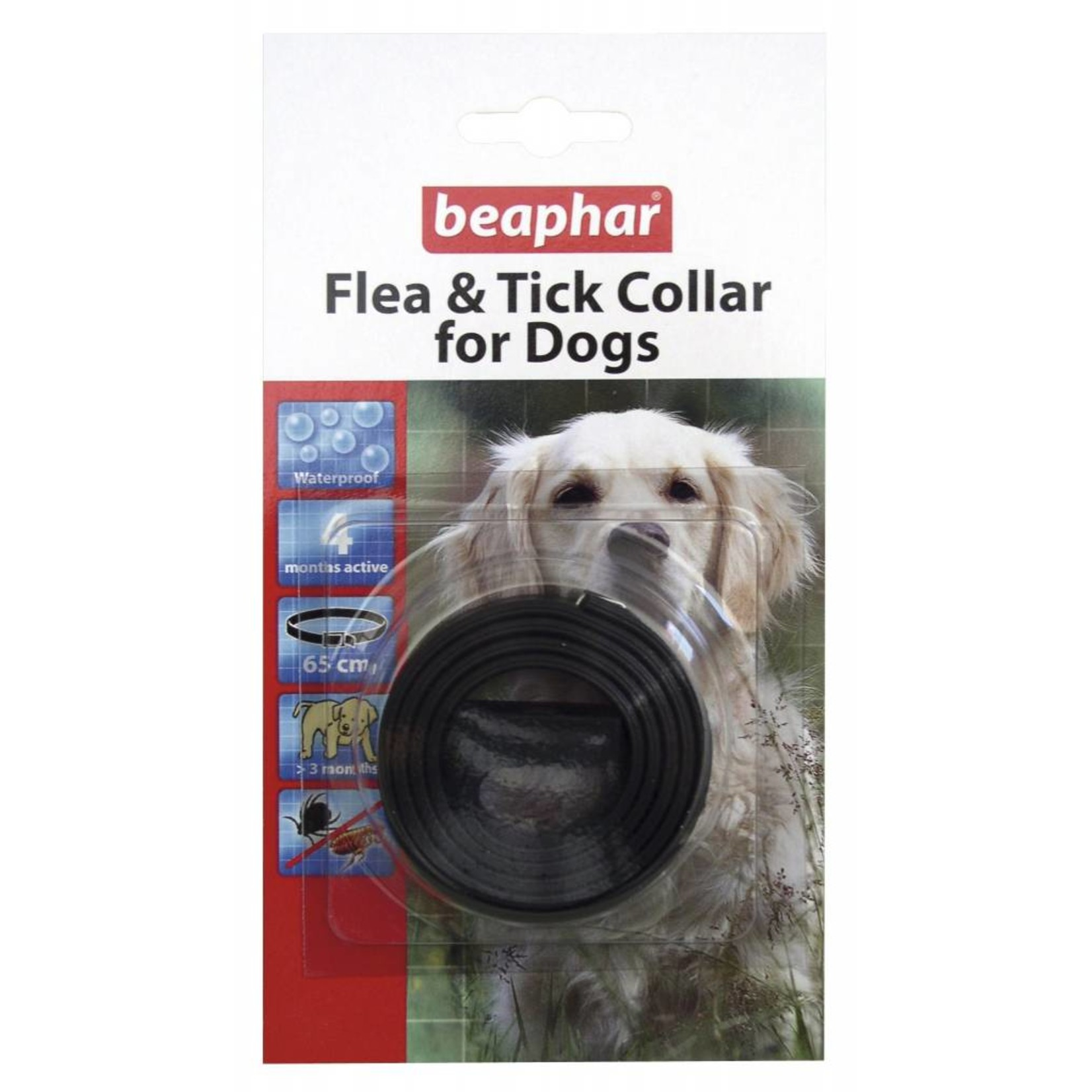 Beaphar Dog Plastic Flea & Tick Collar - Mixed 60cm
