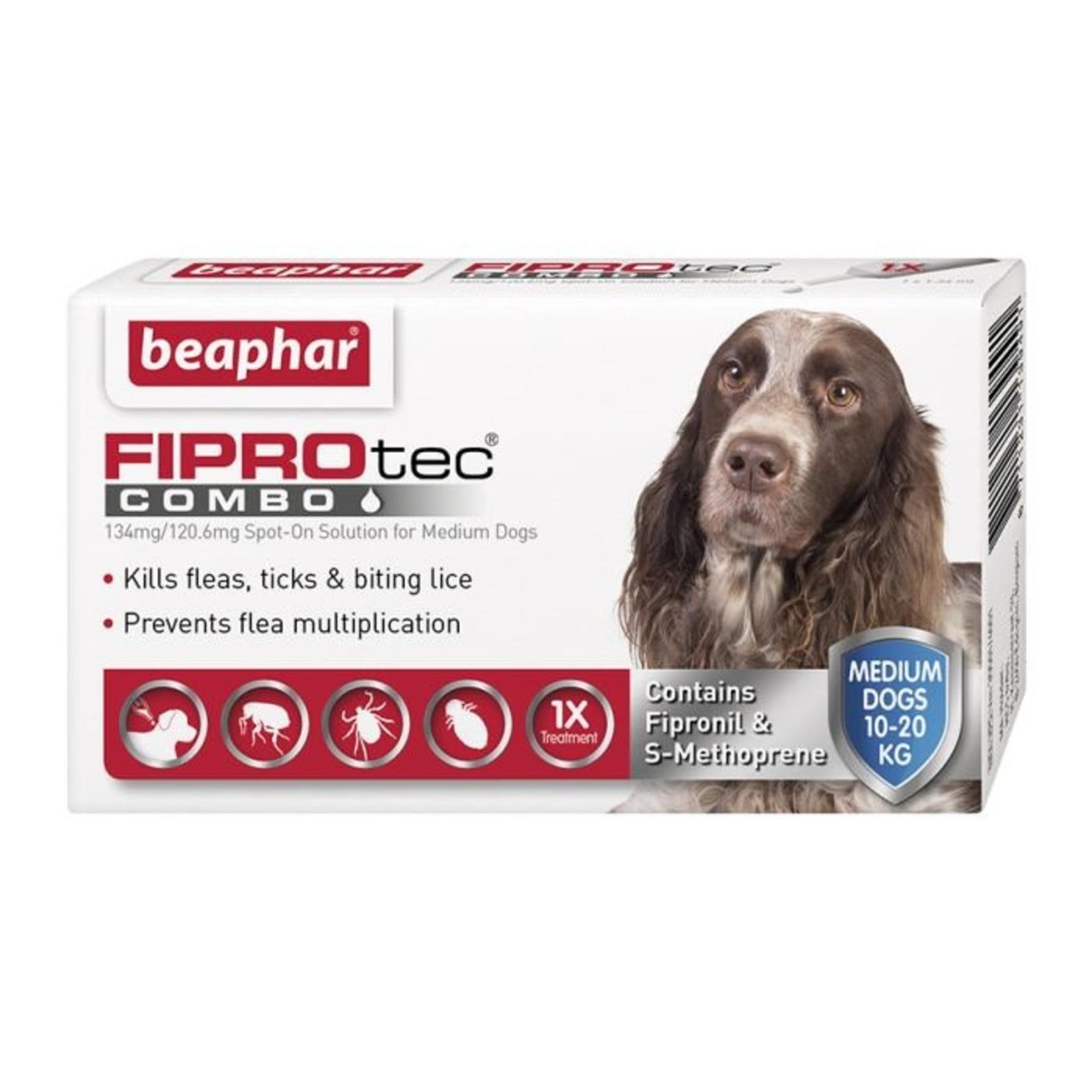 Beaphar FIPROtec Combo Flea & Tick Spot On for Medium Dogs