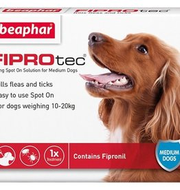 Beaphar FIPROtec Flea & Tick Spot On Solution for Medium Dogs