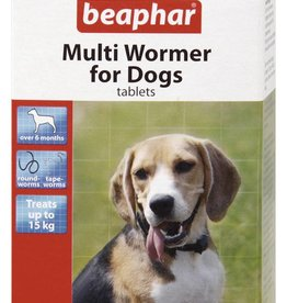 Beaphar Multi Wormer for Dogs, 12 Tablets