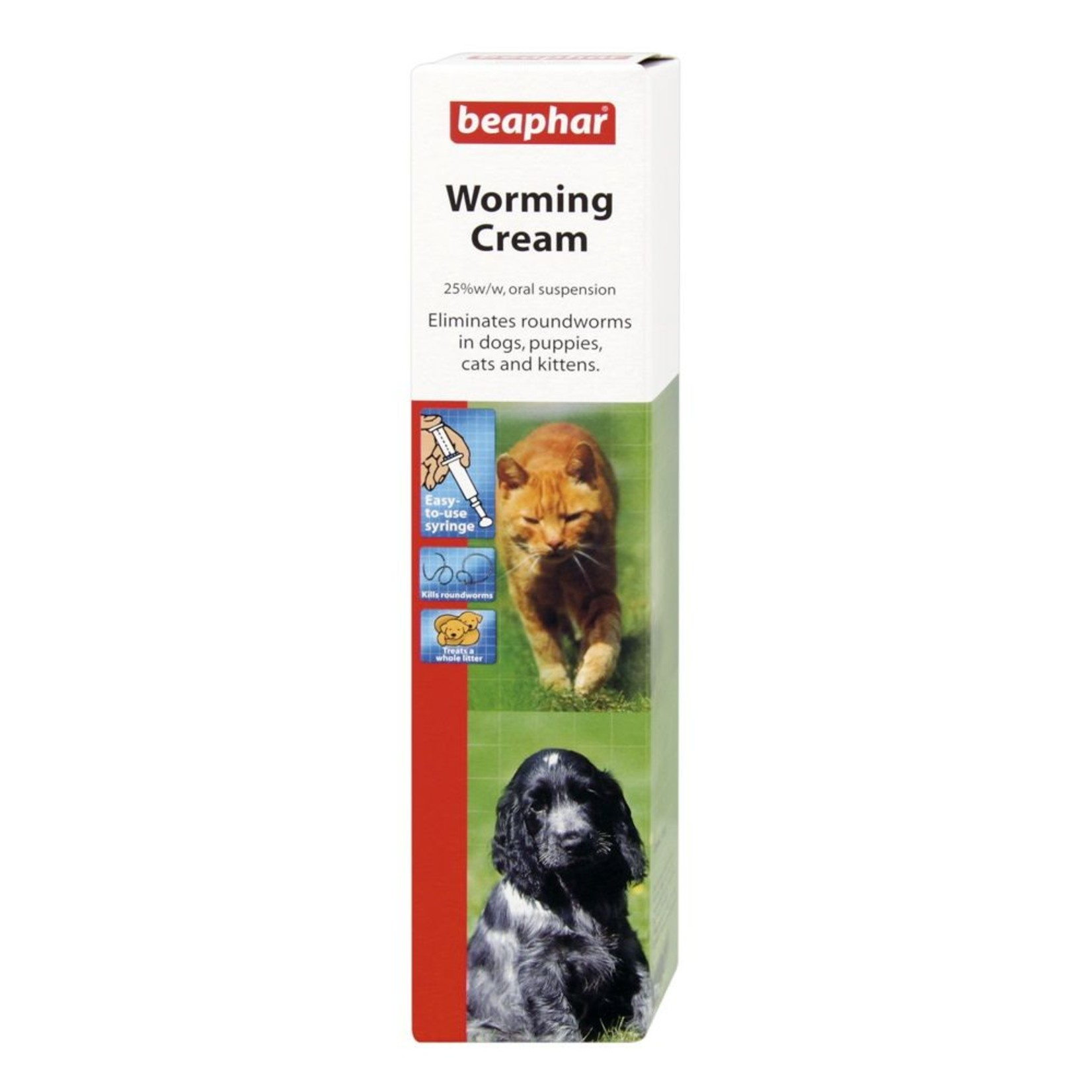 Beaphar Worming Cream for Dogs & Cats, 18g