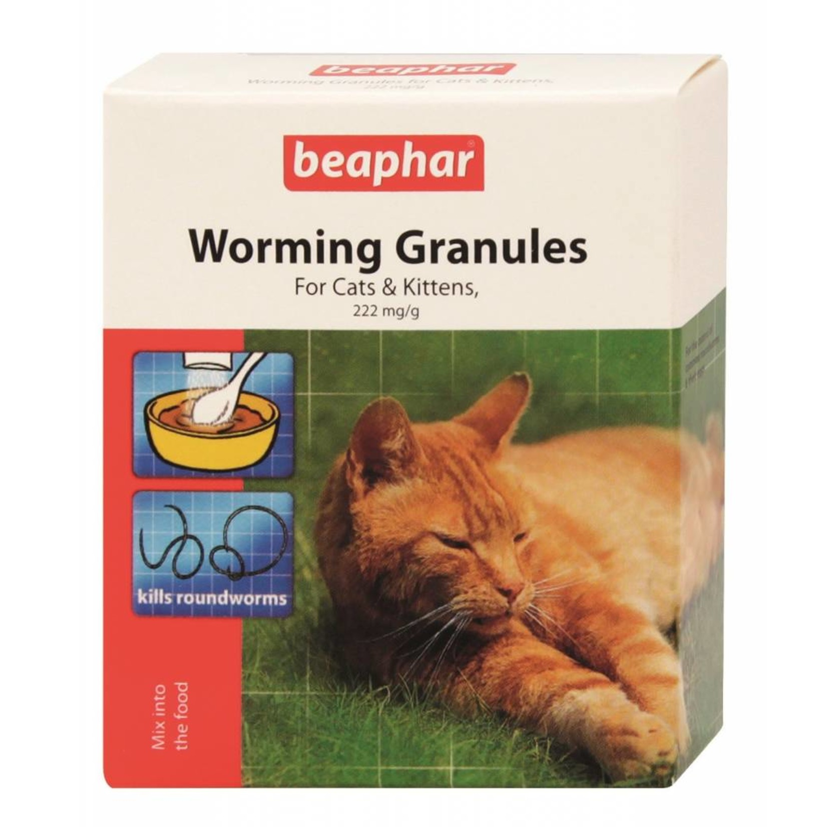 Beaphar Worming Granules For Cats & Kittens, 4 x 1g