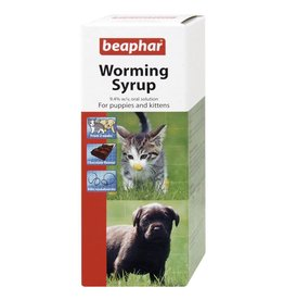 Beaphar Worming Syrup for Puppies & Kittens, 45ml