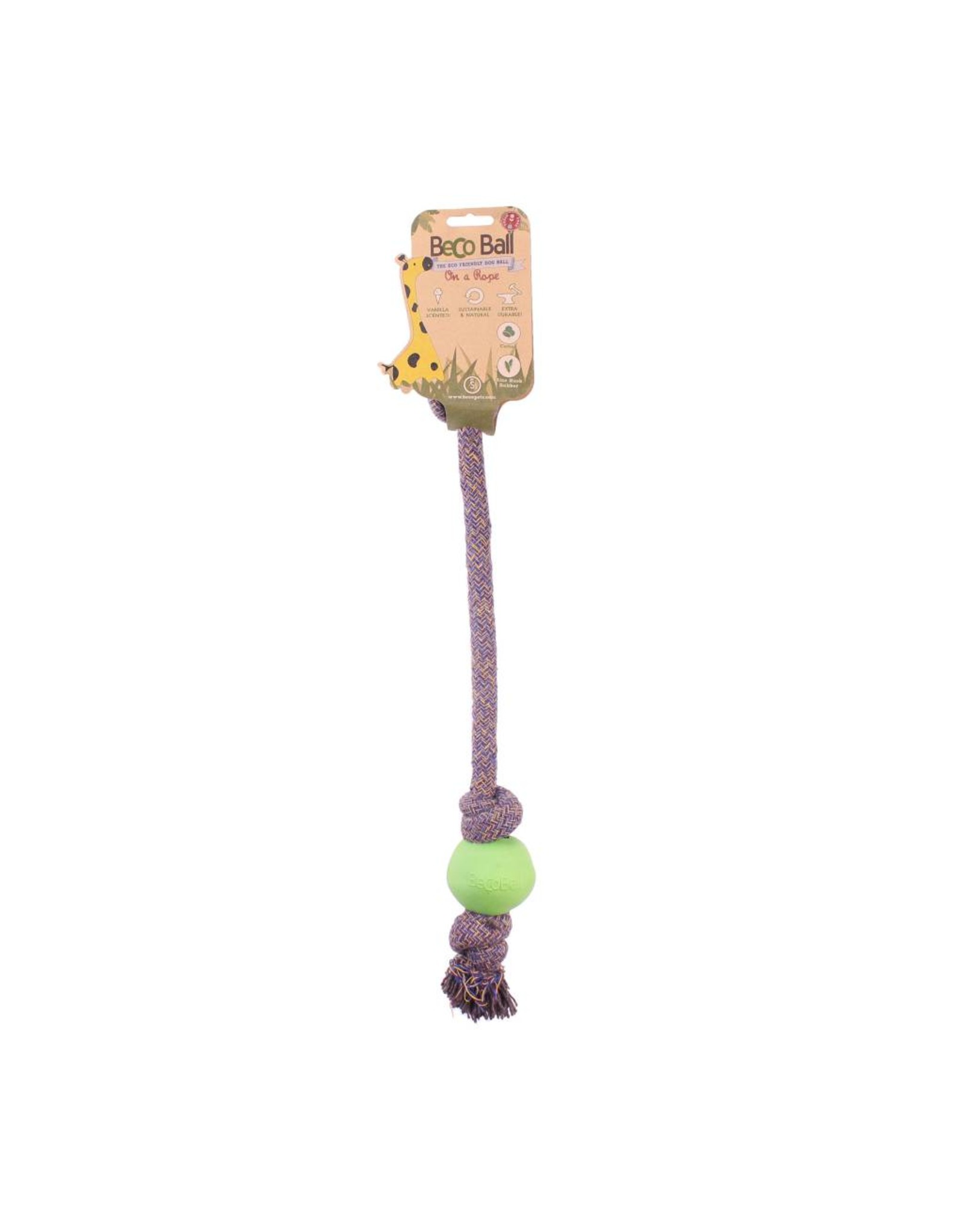 Beco Eco-Friendly Ball On A Rope Dog Toy, Small