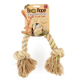 Beco Eco-Friendly Rope Dog Toy - Jungle Triple Knot