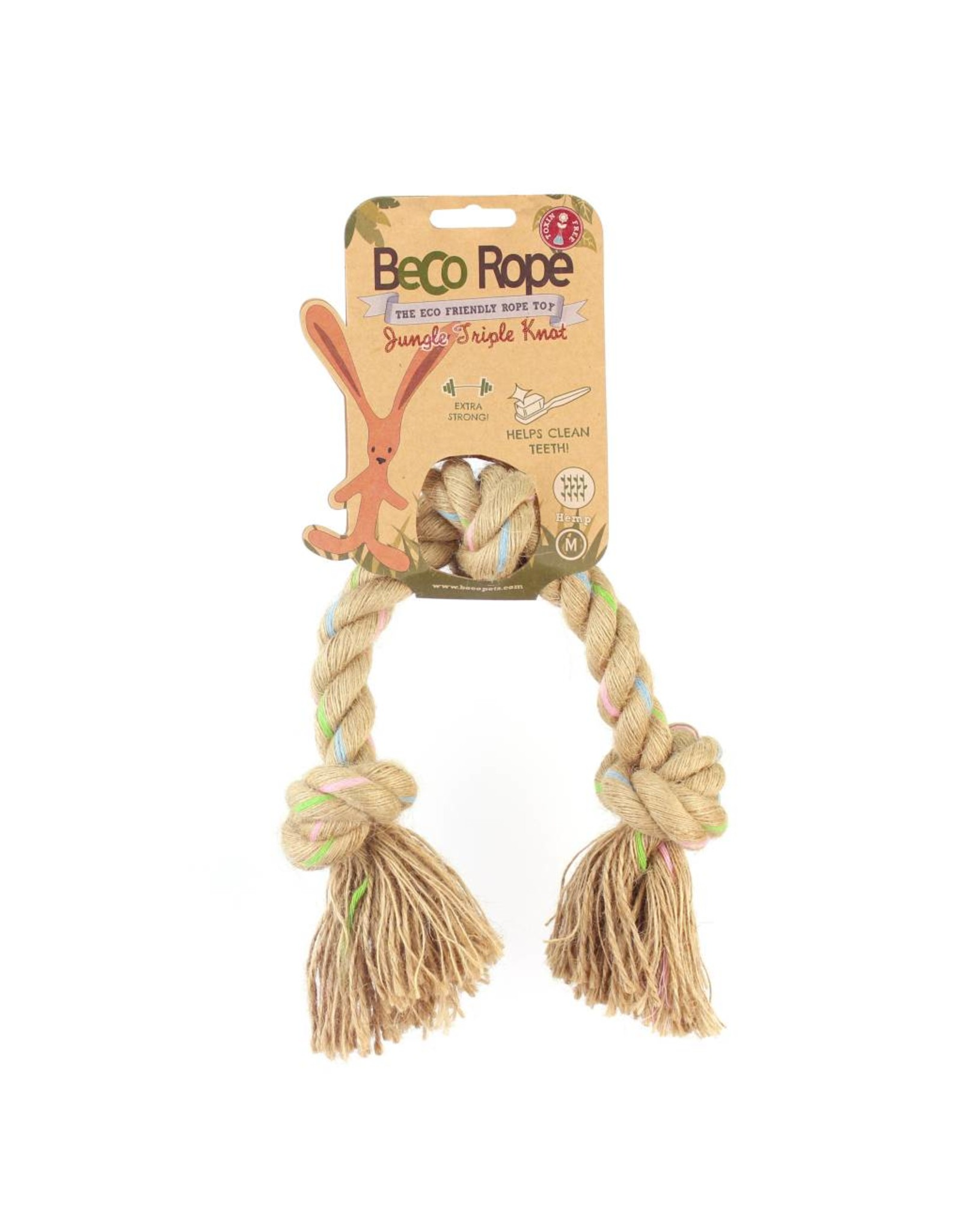 Beco Eco-Friendly Rope Jungle Triple Knot Dog Toy