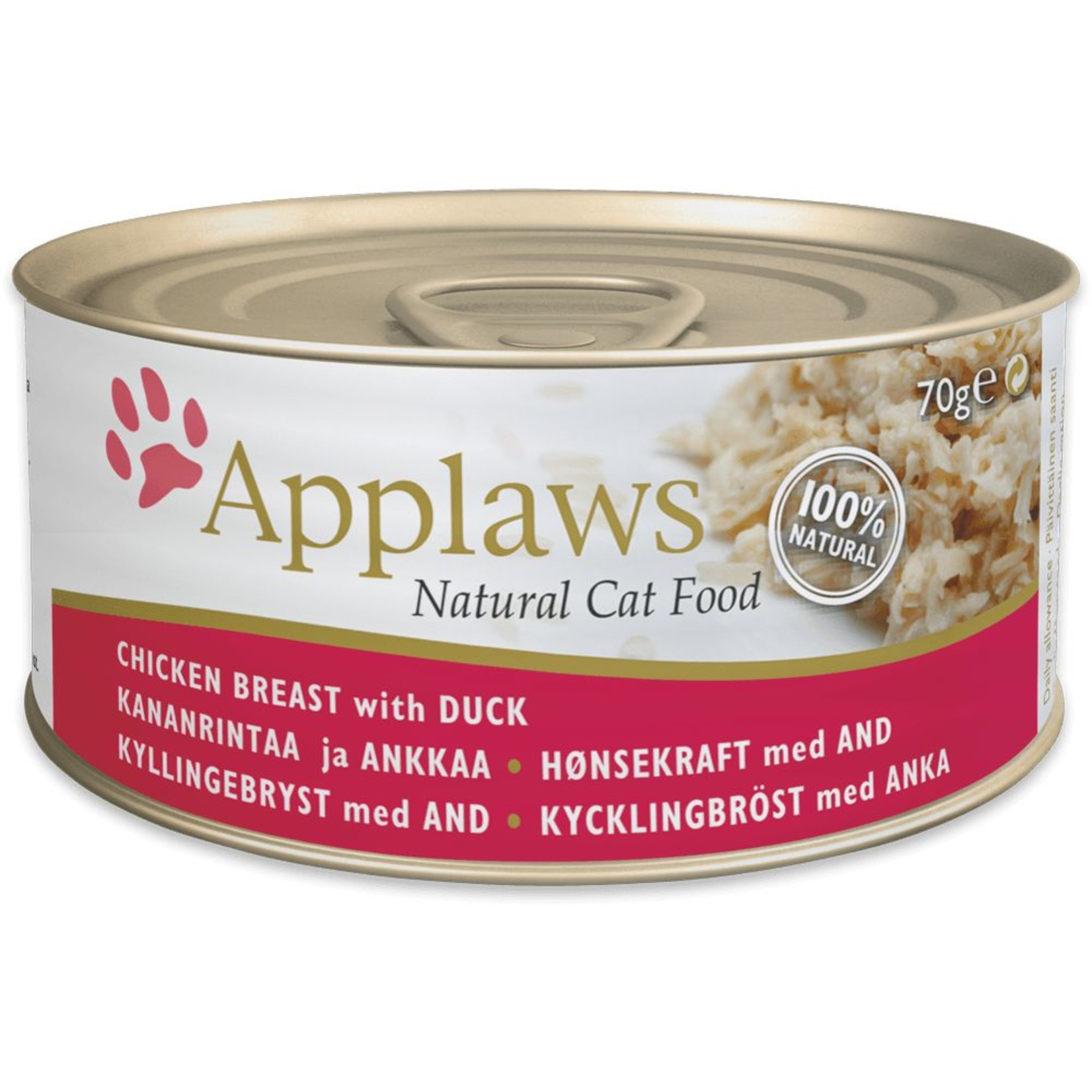 Applaws Cat Wet Food Chicken Breast with Duck, 70g