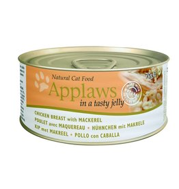 Applaws Cat Wet Food Chicken Breast with Mackerel in Jelly 70g