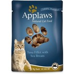 Applaws Cat Wet Food Pouch Tuna Fillet with Sea Bream in Broth, 70g