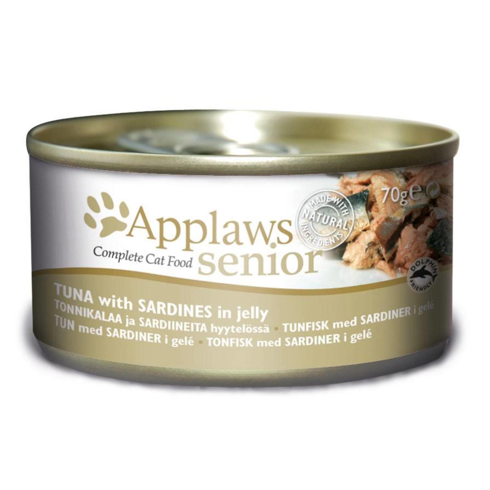 Applaws Cat Wet Food Senior Tuna with Sardines, 70g