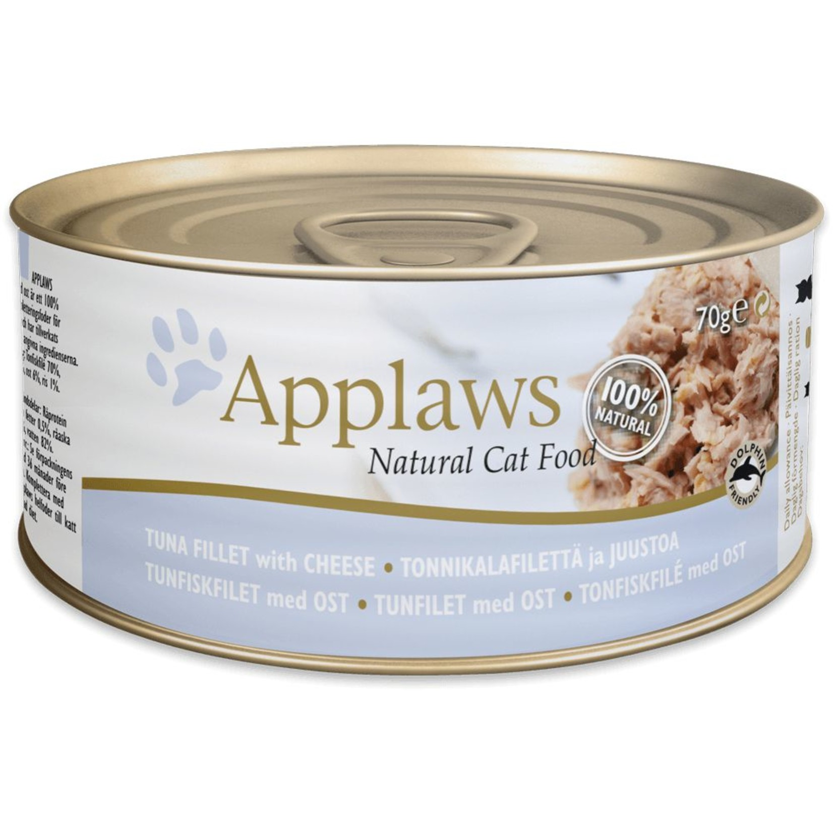 Applaws Cat Wet Food Tuna Fillet & Cheese, 156g