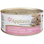 Applaws Cat Wet Food Tuna Fillet & Prawn, 156g