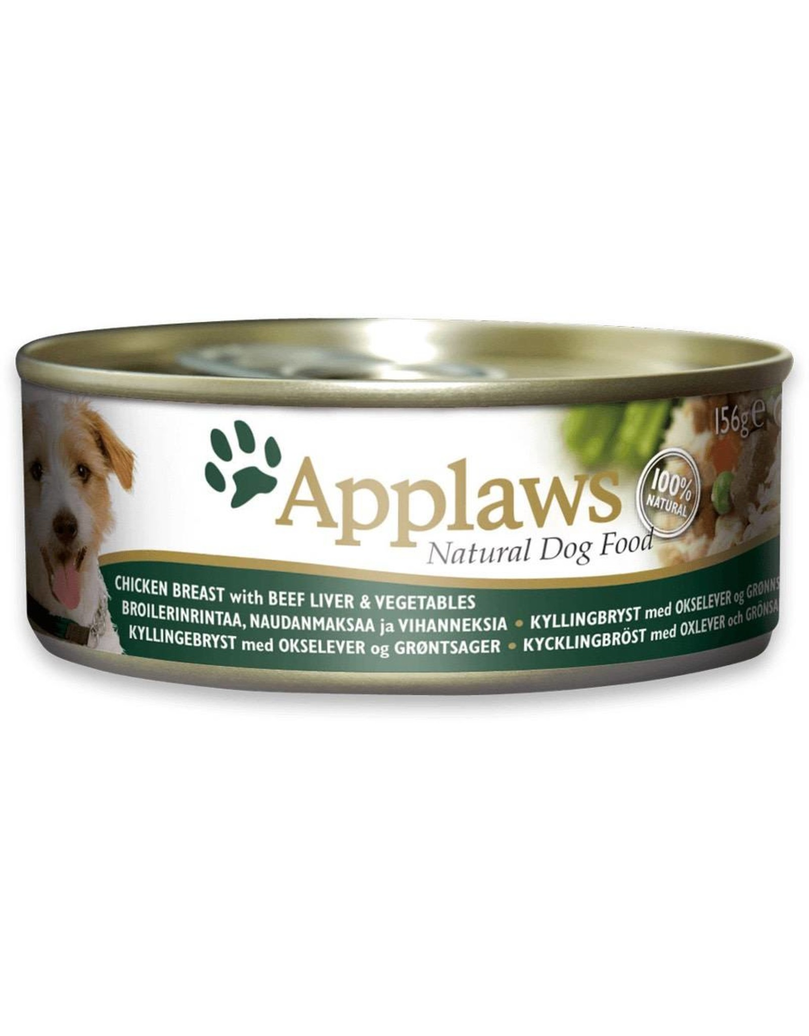 Applaws Dog Wet Food Chicken Breast with Beef Liver & Vegetables 156g