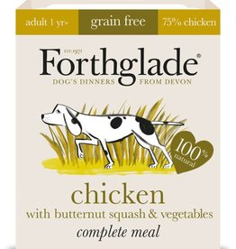 Forthglade Complete Grain Free Chicken with Butternut Squash & Veg Adult Wet Dog Food, 395g