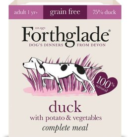 Forthglade Complete Adult Duck, Potato & Veg Grain Free Wet Dog Food 395g