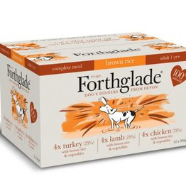 Forthglade Complete Turkey, Lamb & Chicken with Brown Rice Adult Wet Dog Food, Multicase 12 x 395g