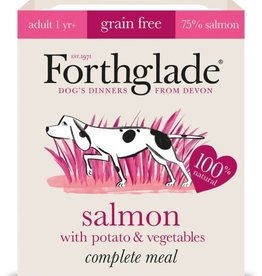 Forthglade Complete Grain Free Salmon, Potato & Veg Adult Wet Dog Food, 395g