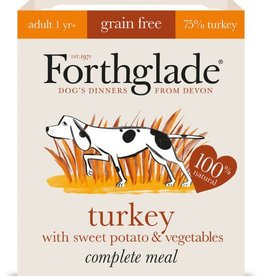 Forthglade Complete Adult Turkey, Sweet Potato & Veg Grain Free Wet Dog Food 395g
